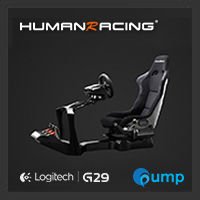 จำหน่าย-ขาย (Promotion Complete Set) HumanRacing GT Chassis (Black) + Logitech Racing Wheel G29 + Logitech Driving Force Shifter