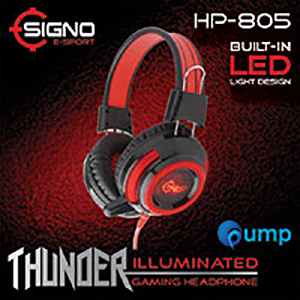จำหน่าย-ขาย Signo E-Sport HP-805 THUNDER Illuminated Gaming Headphone (Black)