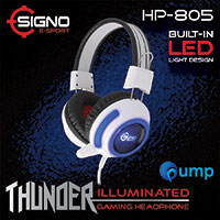จำหน่าย-ขาย Signo E-Sport HP-805 THUNDER Illuminated Gaming Headphone (White)