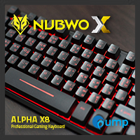 จำหน่าย-ขาย Nubwo X-Series Alpha X8 Gaming Keyboard (Black)