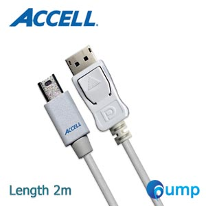 Accell UltraAV® Mini DisplayPort to DisplayPort 1.2 Cable (6.6ft, 2m)