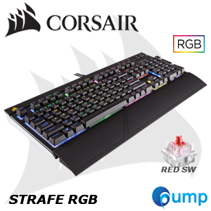 จำหน่าย-ขาย Corsair STRAFE RGB Mechanical Gaming Keyboard — Cherry MX Red (ENG) แถมฟรี Keycap THAI