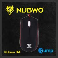 จำหน่าย-ขาย Nubwo X4 Alien Gaming Mouse (Red-Black)