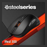 จำหน่าย-ขาย Steelseries Rival 300 Gaming Mouse (Black)