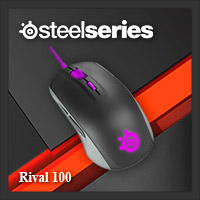 จำหน่าย-ขาย Steelseries Rival 100 Gaming Mouse (Sakura Purple)
