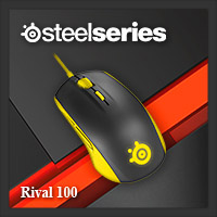 จำหน่าย-ขาย Steelseries Rival 100 Gaming Mouse (Proton Yellow)
