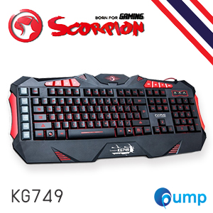 Marvo Keyboard Gaming Marco-program คีย์บอร์ด KG749 (Black)