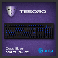 จำหน่าย-ขาย Tesoro Excaliber G7NL V2 BLK_TH Mechanical Gaming Keyboard (Blue Switch)