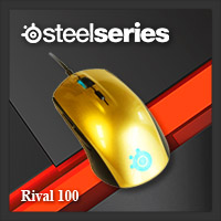 จำหน่าย-ขาย Steelseries Rival 100 Gaming Mouse (Alchemy Gold)