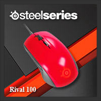จำหน่าย-ขาย Steelseries Rival 100 Gaming Mouse (Forged Red)