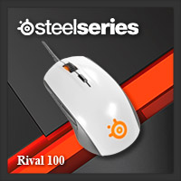 จำหน่าย-ขาย Steelseries Rival 100 Gaming Mouse (White)