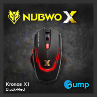 จำหน่าย-ขาย Nubwo Kronos X1 Black - Red Gaming Mouse