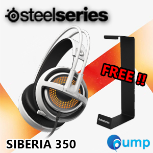 จำหน่าย-ขาย Promotion !! Steelseries Siberia 350 Gaming Headset (White) Free!! SteelSeries Headset Stand