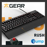 จำหน่าย-ขาย Fnatic RUSH Gaming Keyboard (ENG) - Cherry MX Red Switch