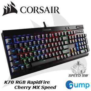 จำหน่าย-ขาย Corsair K70 RGB RapidFire Cherry MX Speed Mechanical Gaming Keyboard (TH)