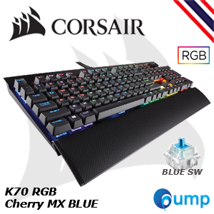 จำหน่าย-ขาย Promotion Sale!! Corsair K70 LUX Cherry MX RGB [Blue Switch] Mechanical Gaming Keyboard [TH]