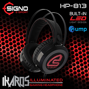 จำหน่าย-ขาย Signo E-Sport HP-813 IKAROS Illuminated Gaming Headphone (Black)
