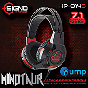 จำหน่าย-ขาย Signo E-Sport HP-814 MINOTAUR 7.1 Surround Sound Vibration Gaming Headphone