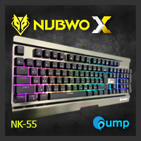 จำหน่าย-ขาย Nubwo NK-55 Phantom Plus Metal Gaming Keyboard Semi Mechanical - Silver - [Blue Switch]