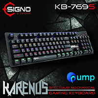 จำหน่าย-ขาย IGNO E-Sport KB-769S KARENUS Spectrum Mechanical Gaming Keyboard - Blue SW