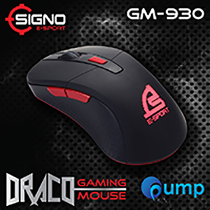 Signo E-Sport GM-930Blk Draco Gaming Mouse (Black)