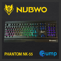 จำหน่าย-ขาย Nubwo NK-55 Phantom Plus Metal Gaming Keyboard Semi Mechanical - BLACK - [Blue Switch]