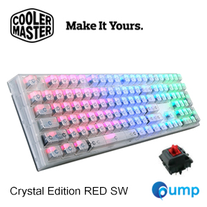 จำหน่าย-ขาย CM Storm Masterkeys Pro L - RGB - Crystal Edition RED SW