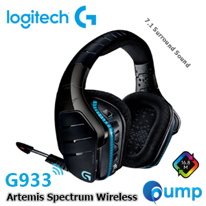 Logitech G933 Artemis Spectrum Wireless RGB 7.1 Surround Sound Gaming Headset