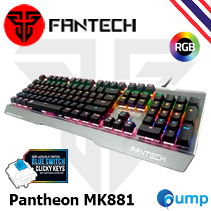จำหน่าย-ขาย Fantech Pantheon MK881 Mechanical Blue Switch (Kailh) Fullsize Edition Gaming Keyboard - [Key Thai]
