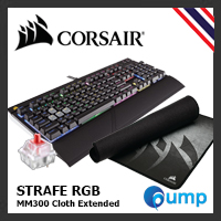 จำหน่าย-ขาย Pramotion!! Corsair STRAFE RGB Mechanical  — Cherry MX Red (Key-Thai) + Corsair MM300 Extended Edition Cloth