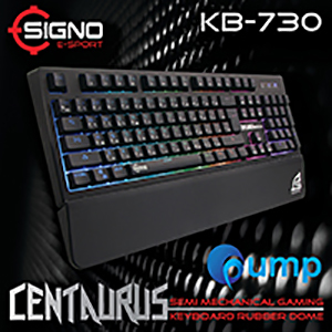 จำหน่าย-ขาย Signo E-Sport KB-730 Centaurus Semi Mechanical Gaming Keyboard Rubber Dome