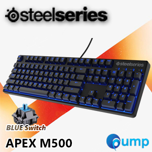จำหน่าย-ขาย Promotion!! SteelSeries Apex M500 Cherry MX Blue Mechanical Gaming Keyboard (ENG) แถมฟรี Keycaps Thai
