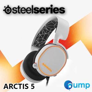 SteelSeries Arctis 5 Wired 7.1 RGB Surround Sound Gaming Headset - White
