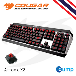 จำหน่าย-ขาย Cougar Attack X3 Cherry MX Mechanical Gaming Keyboard - Red Sw (Key Eng) แถม Thai Keycap