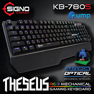 จำหน่าย-ขาย SIGNO E-Sport KB-780 THESEUS RGB Mechanical Gaming Keyboard (Blue Switches)