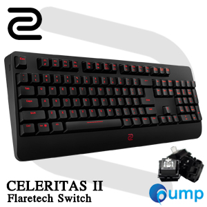 ZOWIE CELERITAS II Gaming Keyboard - Flaretech Optical [RED] Switch - TH