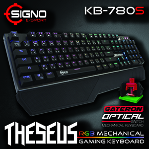 SIGNO E-Sport KB-780s THESEUS RGB Mechanical Gaming Keyboard - (Red Switches)
