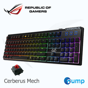 จำหน่าย-ขาย Asus Cerberus Mech RGB Gaming Keyboard (Kaihua switch) - Red Switch