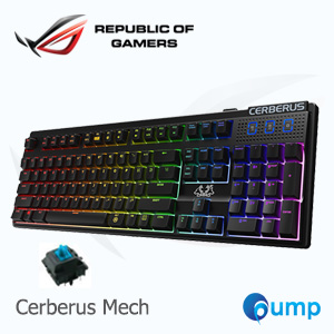 จำหน่าย-ขาย Asus Cerberus Mech RGB Gaming Keyboard (Kaihua switch) - Blue Switch