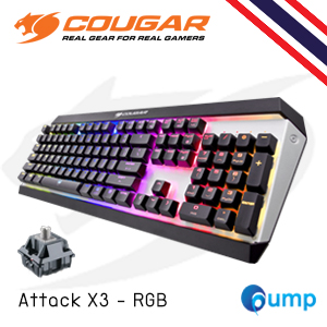 จำหน่าย-ขาย Cougar Attack X3 RGB Mechanical Gaming Keyboard (Cherry MX Silver) แถม Thai Keycap