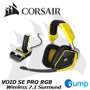 Corsair VOID PRO RGB Wireless SE Dolby 7.1 Gaming Headset (Yellow)