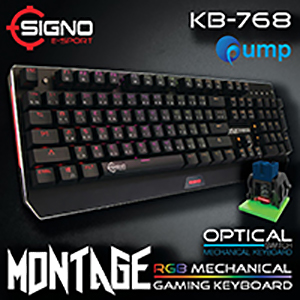 จำหน่าย-ขาย SIGNO E-Sport KB-768 MONTAGE RGB Mechanical Gaming Keyboard (Optical SW)