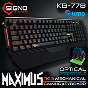 จำหน่าย-ขาย SIGNO E-Sport KB-778 MAXIMUS Optical Switch RGB Mechanical Gaming Keyboard (Optical SW)