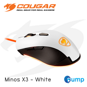 จำหน่าย-ขาย Cougar Minos X3 Optical Gaming Mouse - White