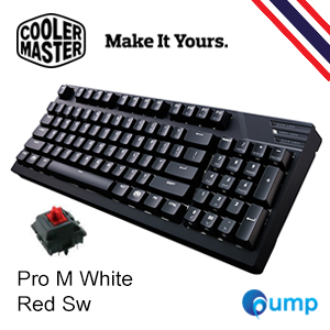 จำหน่าย-ขาย Cooler Master MasterKeys Pro M White LED Mechanical Gaming Keyboard - Cherry MX Red
