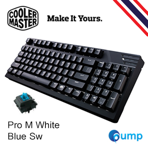 จำหน่าย-ขาย Cooler Master MasterKeys Pro M White LED Mechanical Gaming Keyboard - Cherry MX Blue