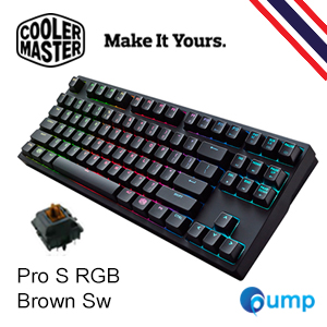 จำหน่าย-ขาย Cooler Master MasterKeys Pro S RGB Gaming Keyboard - Cherry MX Brown [Key Thai]
