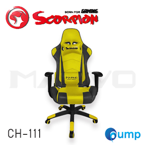 Marvo Scorpion CH-111 Adjustable ,Ergonomic Advanced Gaming Chair - Yellow แถมลำโพง Marvo SG112