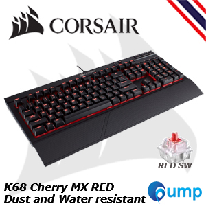 จำหน่าย-ขาย Corsair K68 Cherry MX Red LED [Red Switch] Mechanical Gaming Keyboard [TH]
