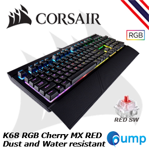 จำหน่าย-ขาย Corsair K68 RGB Cherry MX Red LED [Red Switch] Mechanical Gaming Keyboard [TH]